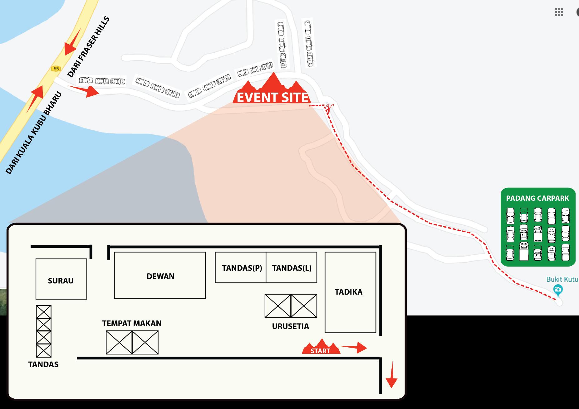 race site layout
